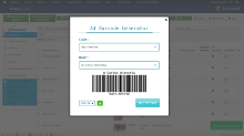 Barcode generator screenshot 2