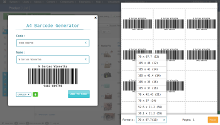 Barcode generator screenshot 3