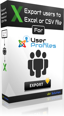 Export/Download Joomla users (+ User Profile) to Excel or CSV file